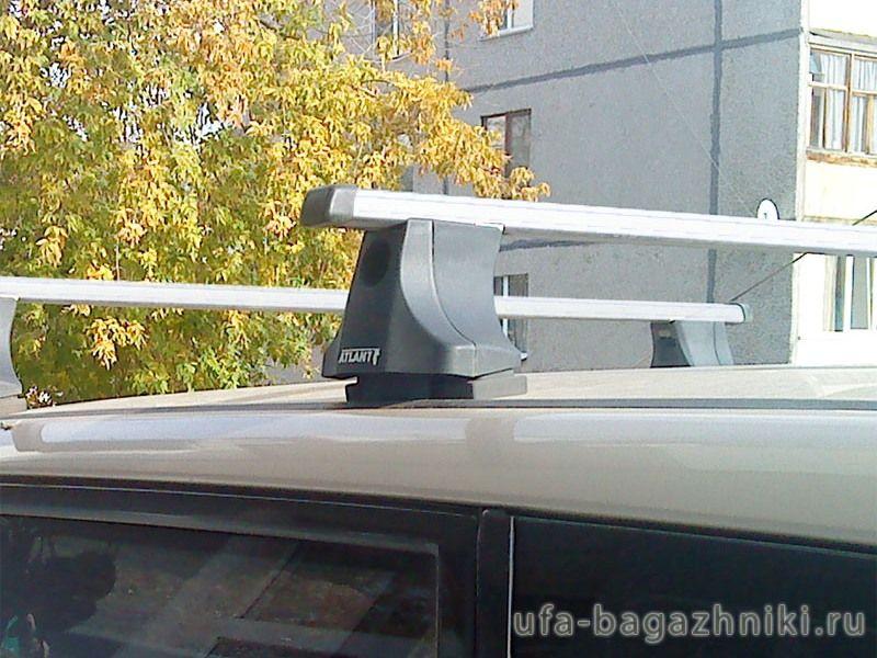 Багажник на крышу Mitsubishi Grandis, Атлант, прямоугольные дуги