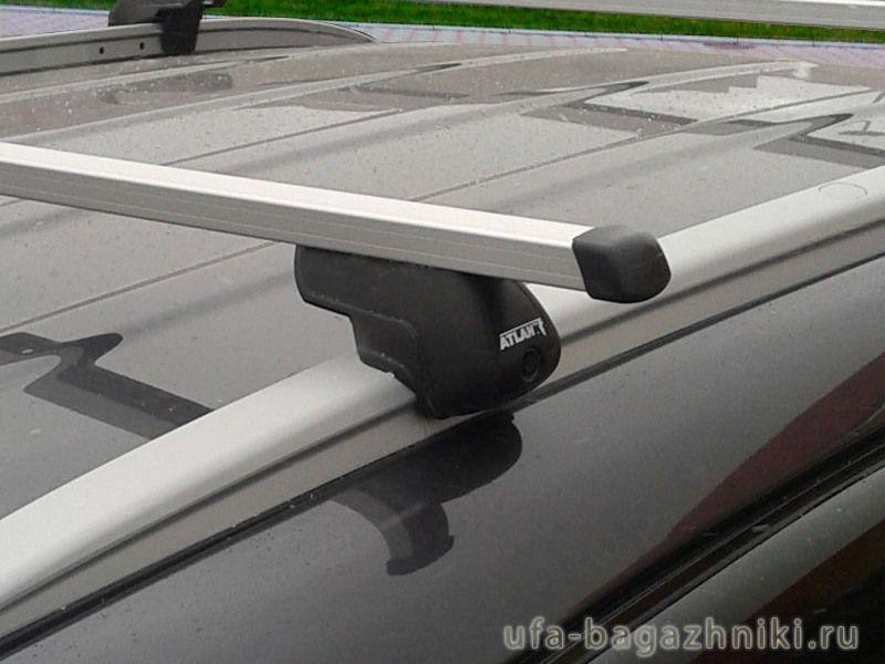 Багажник на крышу Kia Sportage III (SL) с интегрированными рейлингами, Атлант, прямоугольные дуги