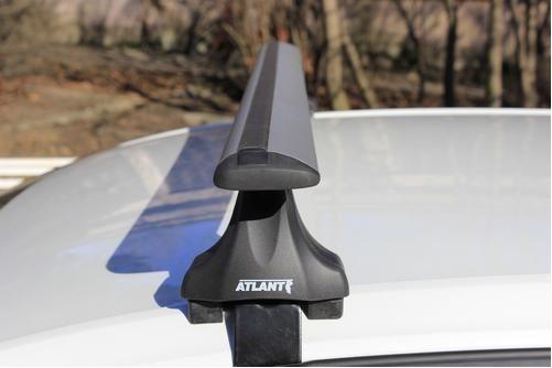 Багажник на крышy Seat Leon, Атлант, крыловидные дуги, опора E