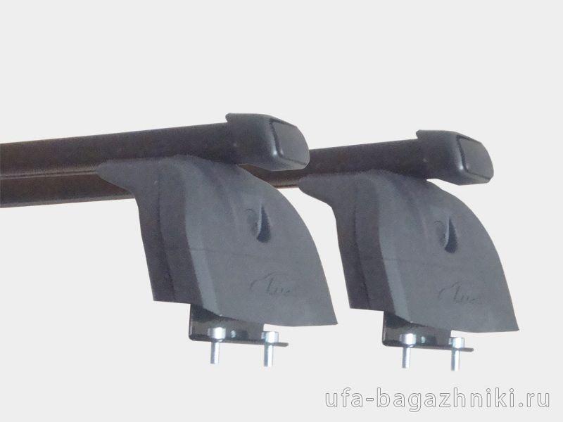 Багажник на крышу Nissan X-Trail T32, Lux, прямоугольные стальные дуги