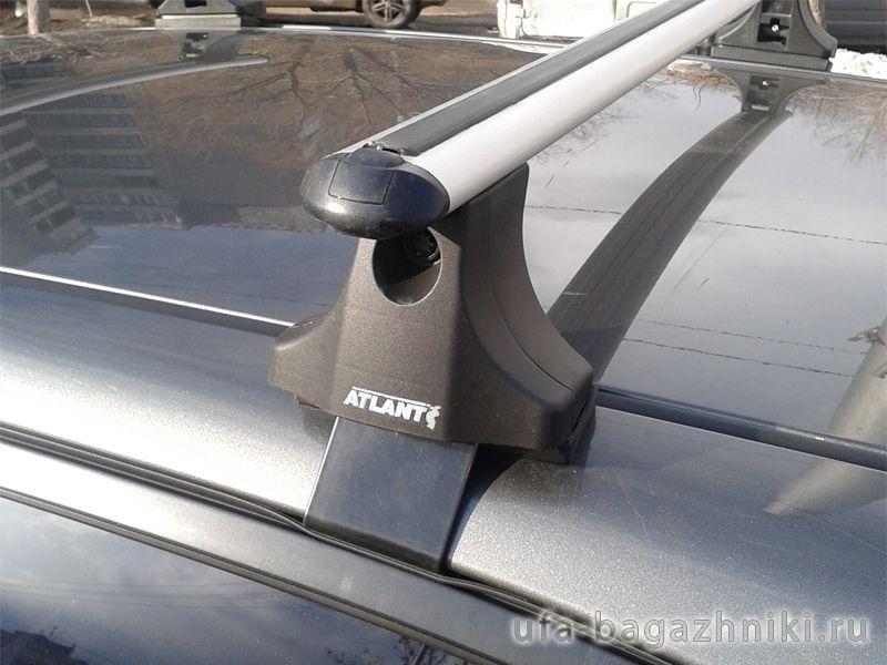Багажник на крышу Toyota Auris E150 2006-12, Атлант, аэродинамические дуги