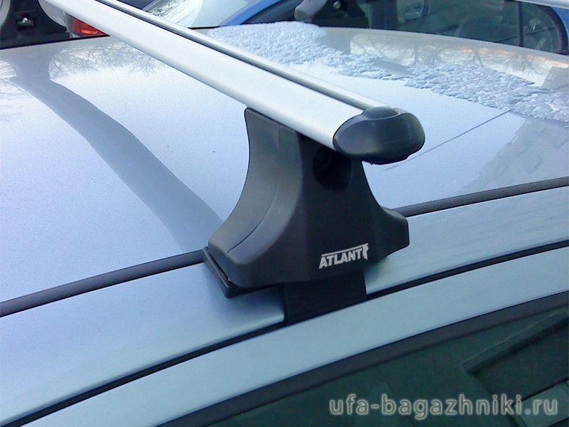 Багажник на крышу Ford Focus 1, Атлант, аэродинамические дуги