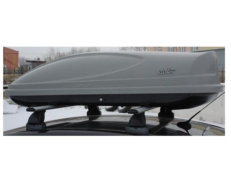 Автомобильный бокс на крышу Koffer A-430, 430 литров, серый матовый