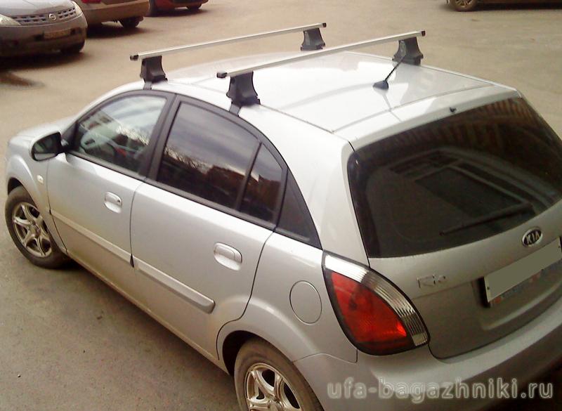 как закрепить багажник на крышу киа рио