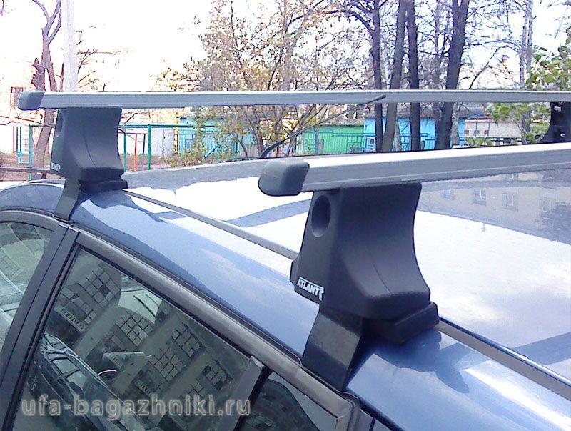 Багажник на крышу Ford Fiesta V, Атлант, прямоугольные дуги