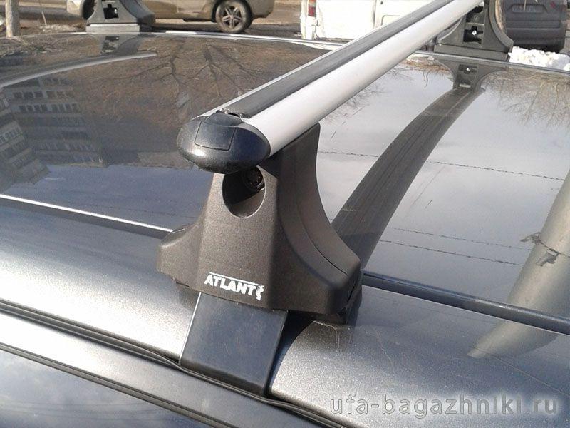 Багажник на крышу на Hyundai Matrix, Атлант, аэродинамические дуги