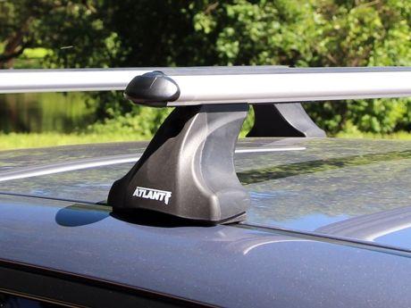 Багажник на крышу Mazda 6 (GH) 2007-13 sedan/hatchback, Атлант, аэродинамические дуги, опора E