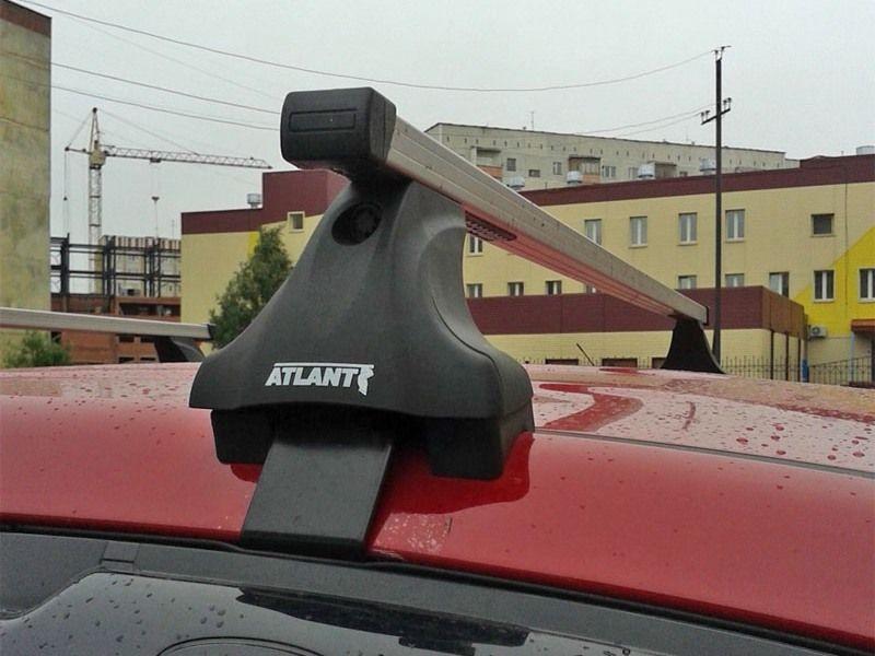 Багажник на крышy Mitsubishi ASX, без рейлингов, без штатных мест, Атлант, прямоугольные дуги, опора E