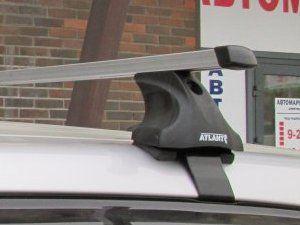 Багажник на крышy Seat Leon, Атлант, прямоугольные дуги, опора E