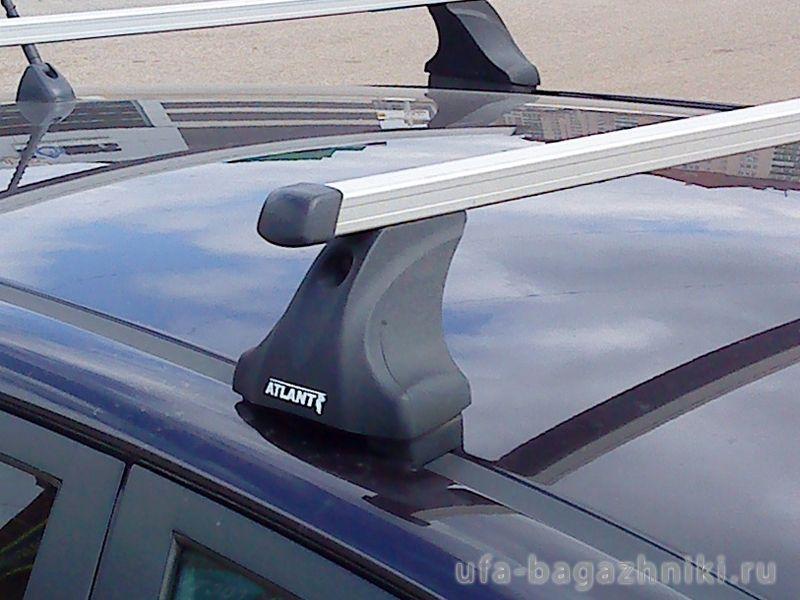 Багажник на крышу Kia Picanto 2011-..., Атлант, прямоугольные дуги, опора Е