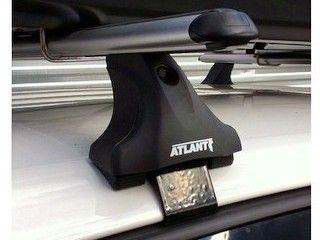 Багажник на крышу Volkswagen Golf Plus, Атлант, аэродинамические дуги, опора Е