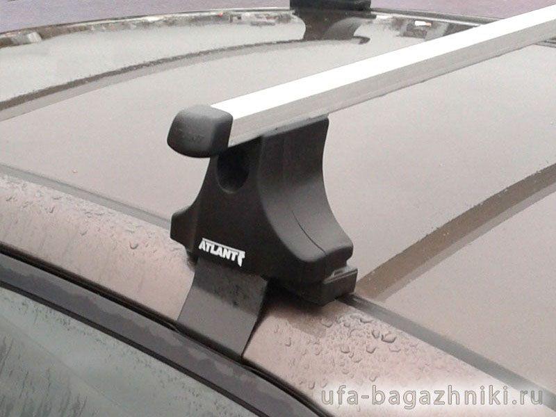 Багажник на крышу Kia Cerato TD 2009-2013, Атлант, прямоугольные дуги