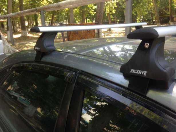 Багажник на крышу Chevrolet Lacetti, Атлант, крыловидные дуги, опора Е