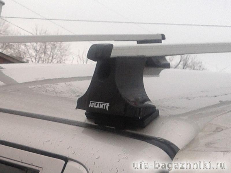 Багажник на крышу Mitsubishi L200 2003-06, Атлант, прямоугольные дуги
