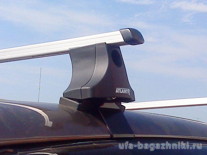 Багажник на крышу на Mitsubishi L200 2007-15 (Атлант, Россия), прямоугольные дуги
