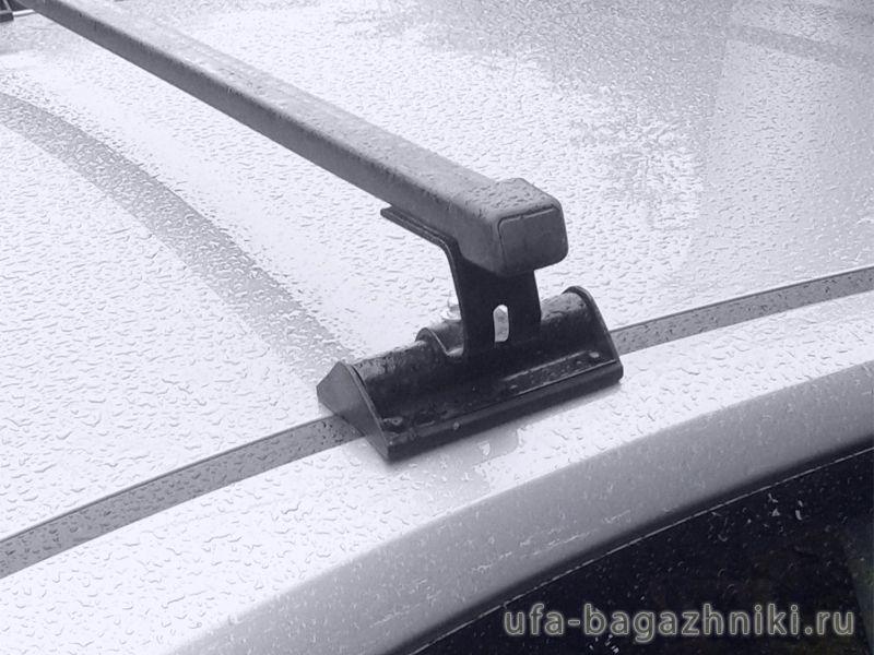 Универсальный багажник на крышу Муравей С-15 (С15),  стальные прямоугольные дуги