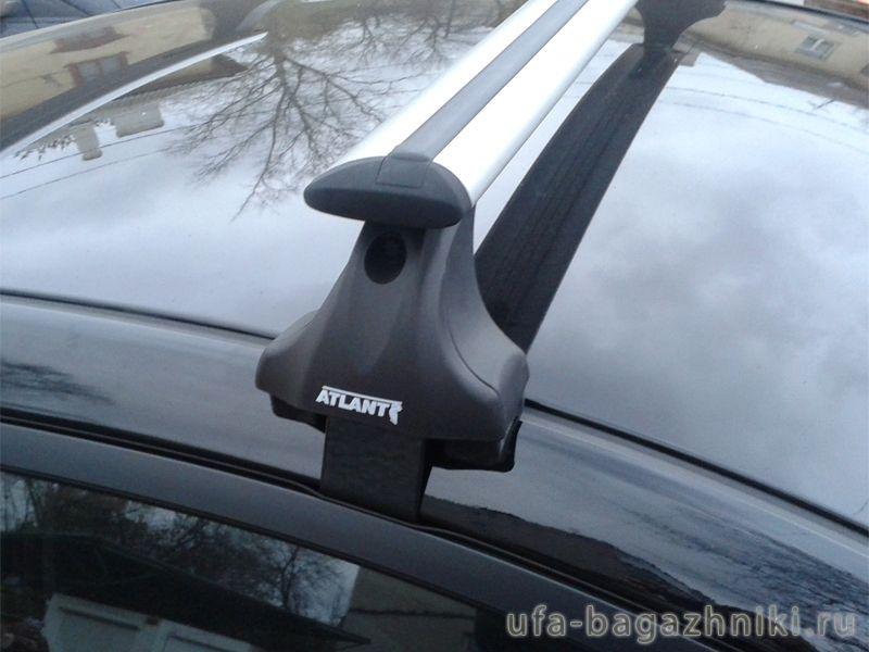 Багажник на крышу Hyundai Solaris sedan, Атлант, крыловидные дуги, опора Е