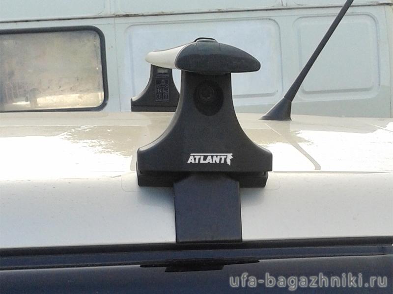 Багажник на крышу Skoda Fabia MK2 hatchback, Атлант, крыловидные аэродуги