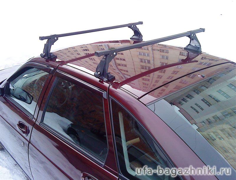Багажник на крышу на Ладу Приору (Атлант, Россия), стальные дуги