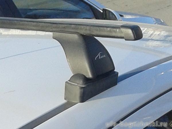 Багажник на крышу Citroen C4 2004-11 hatchback, Lux, прямоугольные стальные дуги
