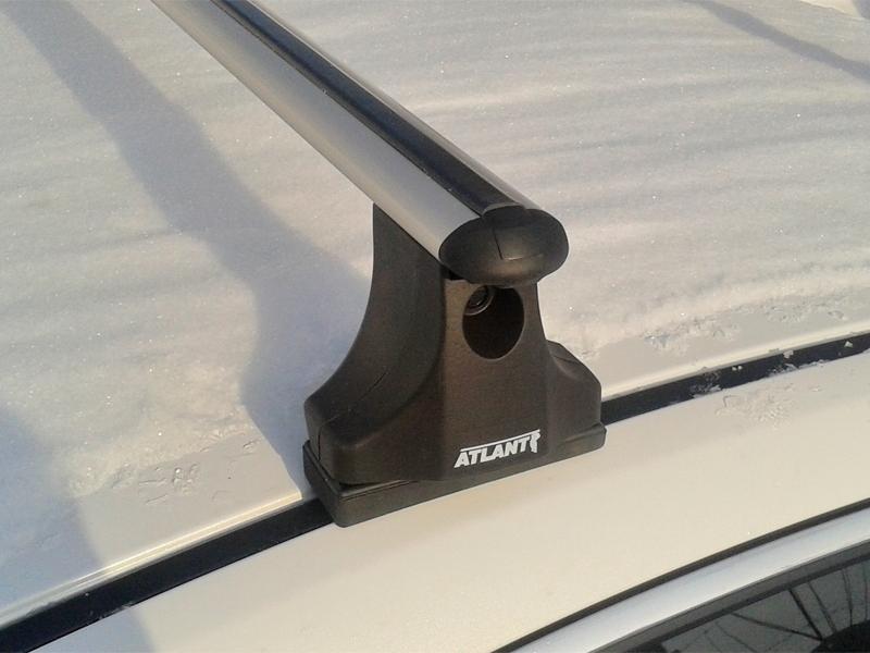 Багажник на крышу Mazda 6 (GH) 2007-13, Атлант, аэродинамические дуги