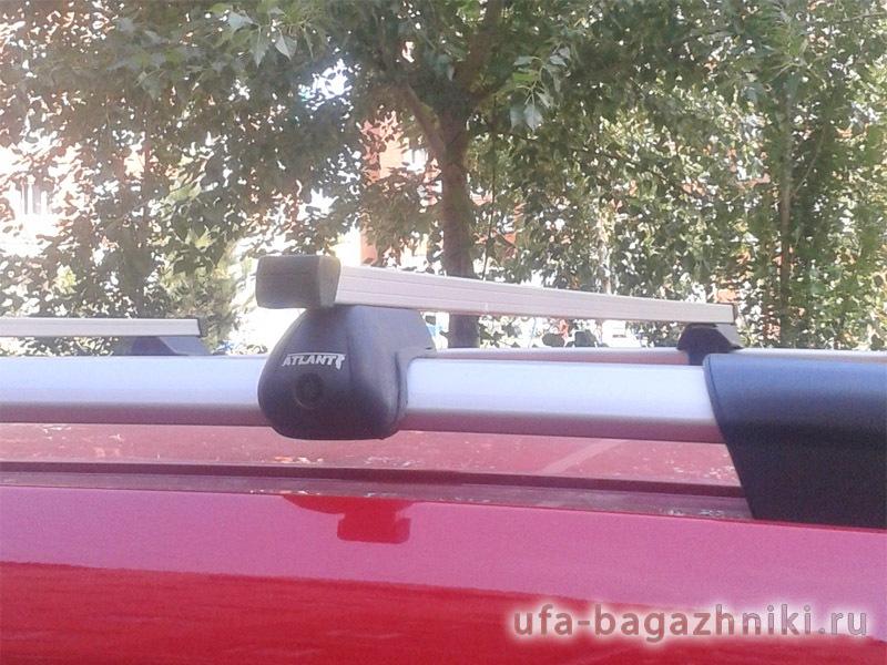 Багажник на крышу Peugeot Partner 2008-..., Атлант, прямоугольные дуги на рейлинги