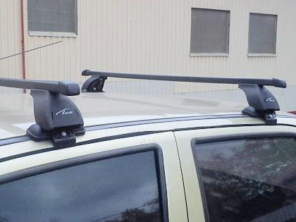 Багажник на крышу Daewoo Matiz, Lux, стальные прямоугольные дуги